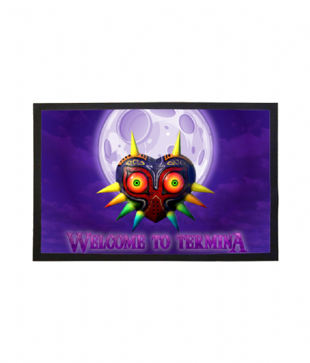 Doormat Majoras Mask Welcome To Termina Mat Inspired By Legend of Zelda